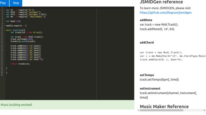 Music Maker: Using NodeJS to Create Songs - Innovative Teams